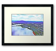 20100402 - Canberra From The Air #1 Framed Print