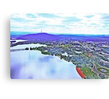 20100402 - Canberra From The Air #1 Canvas Print
