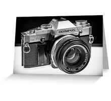 Old School Camera Greeting Card