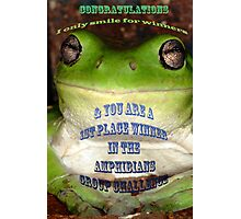 Amphibians Banner Challenge Photographic Print