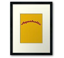 Aquaholic Framed Print