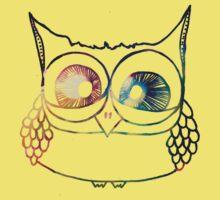 Coloured Freakout Owl Kids Clothes