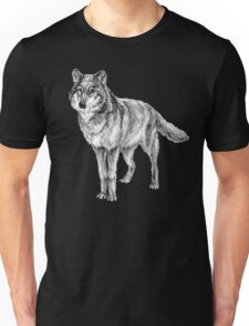 Grey wolf illustration Unisex T-Shirt