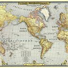 MAPS, WORLD VINTAGE MAP by fine-art-prints