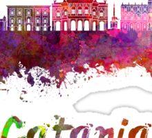 Catania skyline in watercolor Sticker