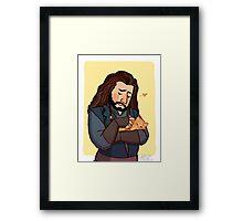 Thorin and Kitten Framed Print