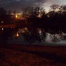night photo at park by photofanatic
