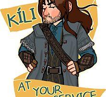 Kíli at Your Service by HattieHedgehog