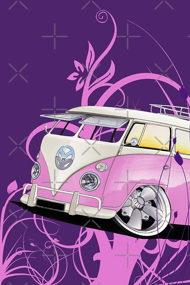Splitty Floral Purple by Richard Yeomans