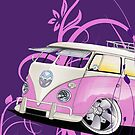 Splitty Floral Purple by Richard Yeomans