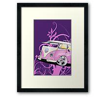 Splitty Floral Purple Framed Print