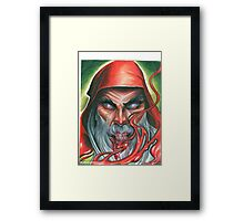 Red Wizard Framed Print