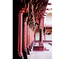 Columns at the Red Fort Photographic Print