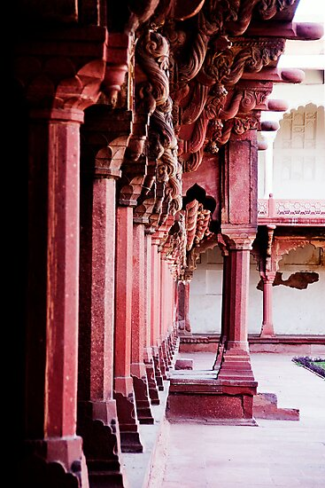 Columns at the Red Fort by A. Duncan
