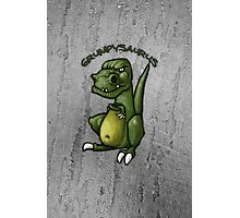 Grumpy green dinosaur in a bad mood Photographic Print