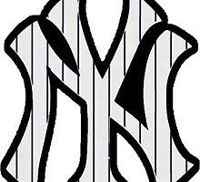 New York Yankees Pinstripes Logo by Jacob Sorokin