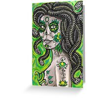 Medusa De Muertos Greeting Card