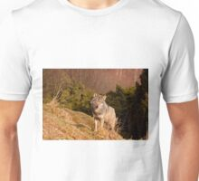 Wolf on its own Unisex T-Shirt