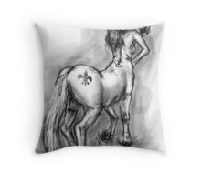Centaur taking a Cell Phone Picture Throw Pillow