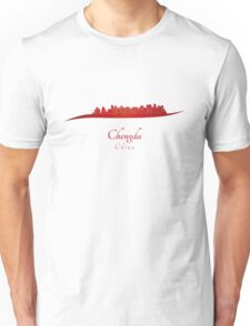 Chengdu skyline in red Unisex T-Shirt
