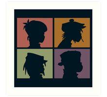 Gorillaz - Demon Days (Silhouette) Art Print