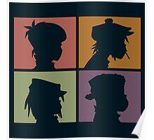Gorillaz - Demon Days (Silhouette) Poster