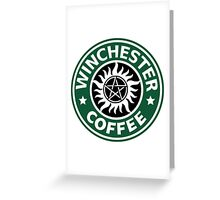 Winchester Coffe Greeting Card