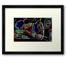 Neon Ghost Chilies  Framed Print