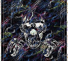 dark lighted skull by JaniceRuss
