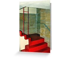Frank Lloyd Wright Designed Stairway, Florida Southern College, Lakeland, Florida Greeting Card