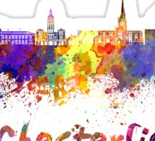 Chesterfield skyline in watercolor Sticker