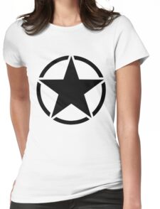 Military Invasion Star Womens Fitted T-Shirt