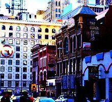 City Bustle at Dusk #2 by Jake Kauffman