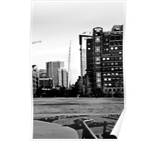 B&W From Park to LoDo Poster