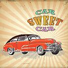 Retro Vintage Style : Car Sweet Car by scottorz
