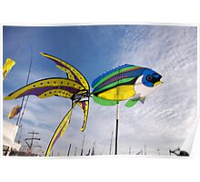 Colourful fish windmill, Brest Maritime Festival 2008 , Brittany, France Poster