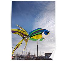 Colourful fish windmill, Brest Maritime Festival, Brittany, France Poster