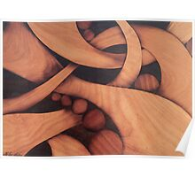 Abstract marquetry Poster
