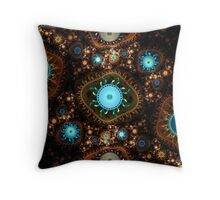 Embroidery Cogs Throw Pillow