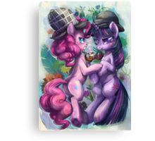 I sense a devious plot, dear Sparkle Canvas Print