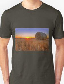 Bales at Sunset 1 Unisex T-Shirt