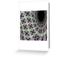 Tartan Vortex Greeting Card