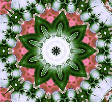 Pink and Green Floral by MSRowe Art and Design