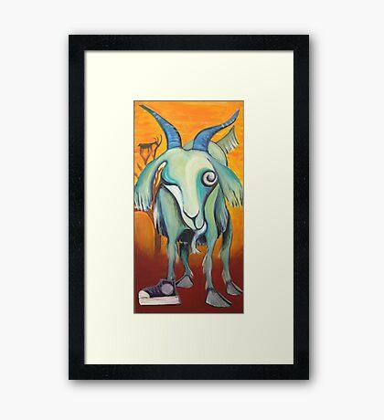 Crazy Goat Framed Print