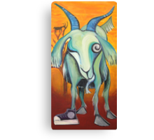 Crazy Goat Canvas Print