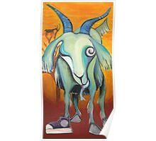 Crazy Goat Poster