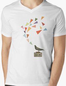 Pigeon Radio Mens V-Neck T-Shirt