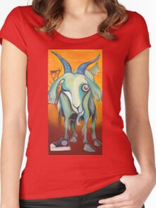 Crazy Goat Women's Fitted Scoop T-Shirt