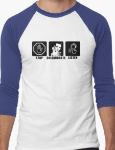 Stop, Collaborate, Listen Men's Baseball ¾ T-Shirt