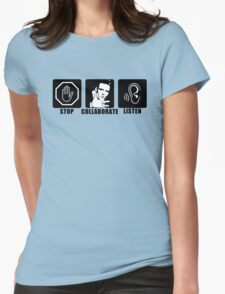 Stop, Collaborate, Listen Womens Fitted T-Shirt
